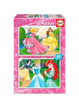 Set 2 puzzles infantiles princesas