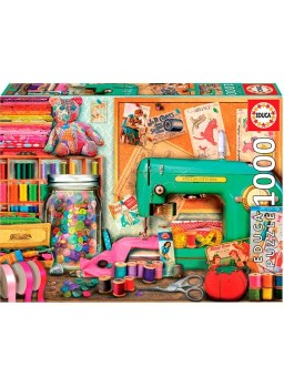 Puzzle 1000 piezas rincón de costura
