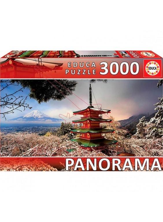 Puzzle 3000 piezas Monte fuji y pagoda chureito