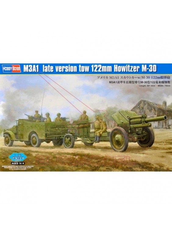Maqueta Tanque M3A1 late version tow 1:35