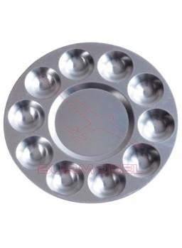 Paleta circular metálica 17cm Dismoer