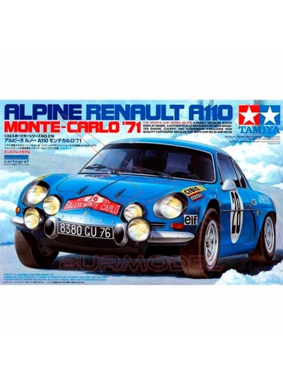 Maqueta Tamiya Alpine Renault A110 Monte-Carlo ´71