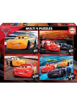 Multi 4 puzzles Cars 3