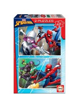 Set 2 puzzles infantiles spiderman