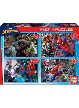 Puzzle infantil multi 4 puzzles spiderman