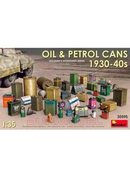 Latas de combustible años 1930-40 escala 1:35
