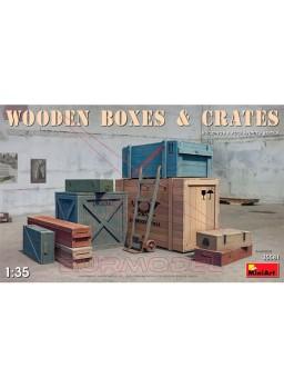 Cajas de madera escala 1/35 MiniArt