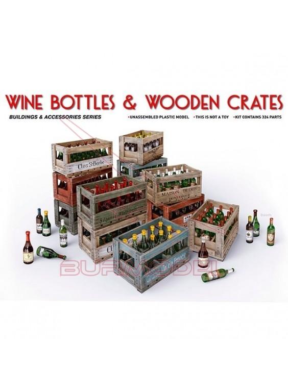 Cajas de madera y botellas de vino 1/35