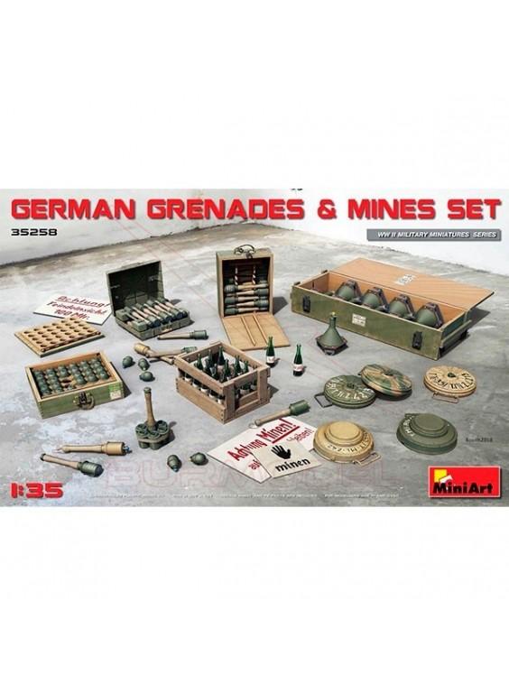 Set de granadas y minas alemanas 1/35 MiniArt