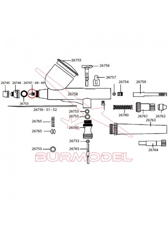 Obturador 0,5mm D-102, D-103 y D- 116