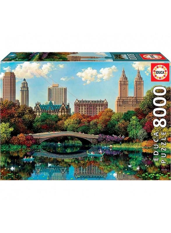 Puzzle 8000 piezas Central Park Bow Bridge