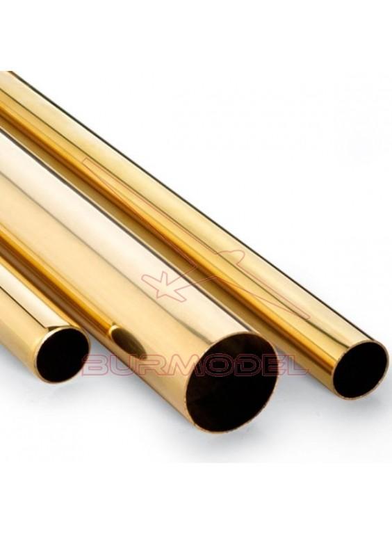 Tubo de latón 6 x 0,45 mm (1 metro)