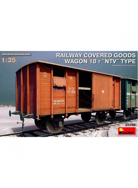 Vagón Railway covered goods 1/35