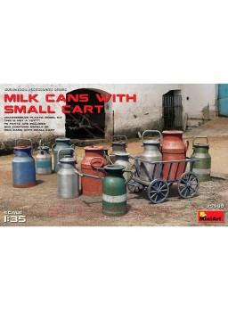 Set cántaros de leche con carrito 1:35 MiniArt