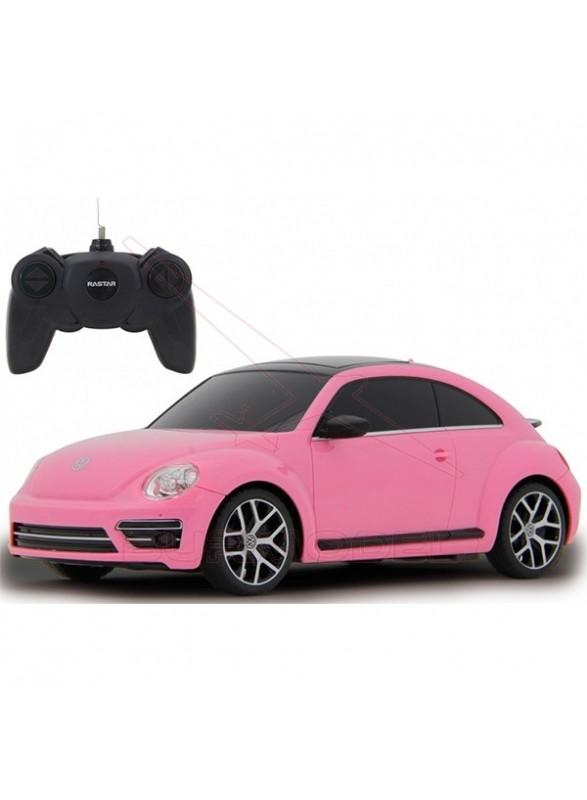 Coche RC Volkswagen Beetle rosa 1/24 27Mhz