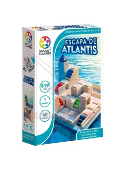 Escapa de Atlantis. Juego Smart Games con 60 retos
