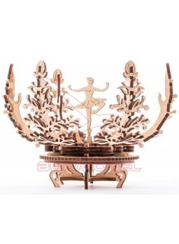 Maqueta madera Flor mecánica Ugears