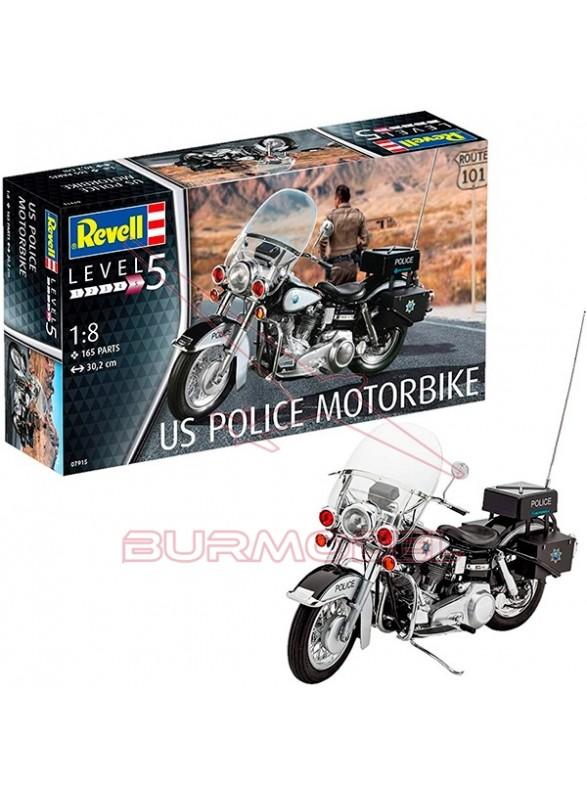 Maqueta US Police Motorbike 1/8