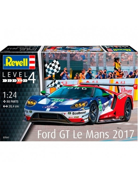 Maqueta coche Ford GT Le Mans 2017 Revell 1/24