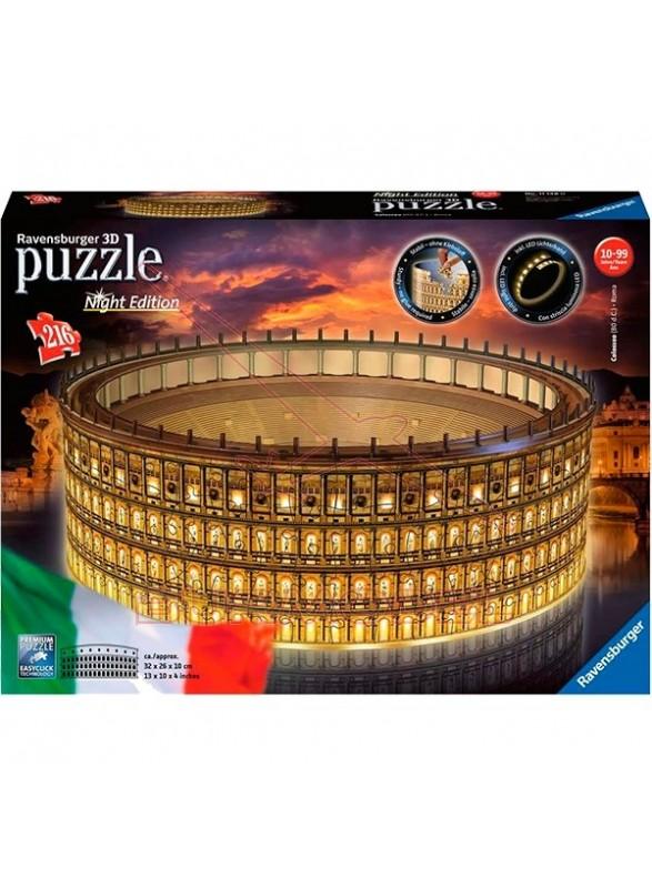 Puzzle 3D Coliseo Night Edition 216 piezas