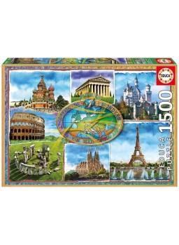 Siete maravillas de Europa puzzle 1500 pzs
