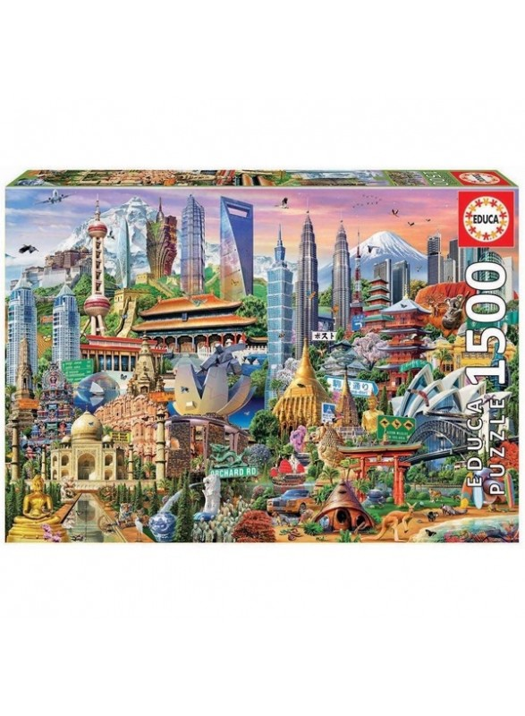 Puzzle 1500 piezas de simbolos de asia