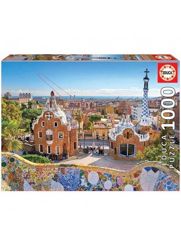 Puzzle 1000 piezas Vista Barcelona Parque Guell