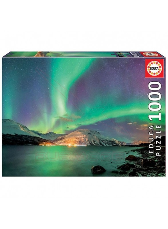Puzzle 1000 piezas Aurora Boreal.