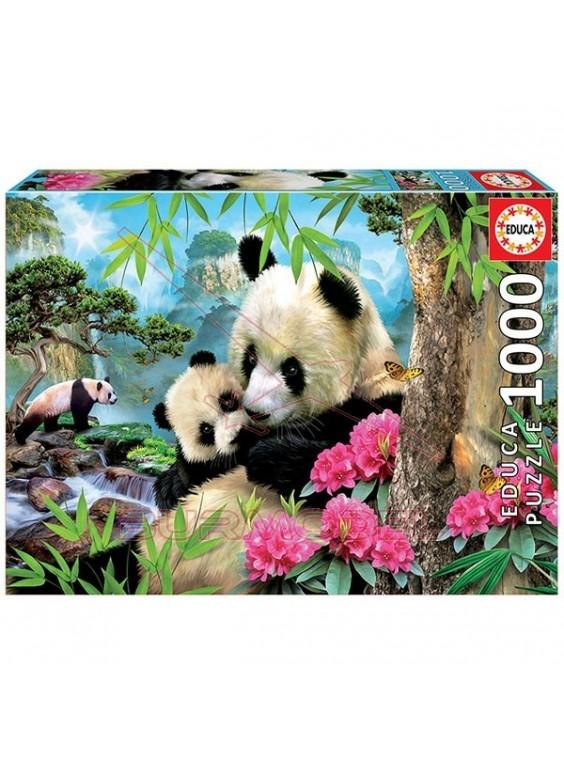 Puzzle 1000 piezas Osos Panda.