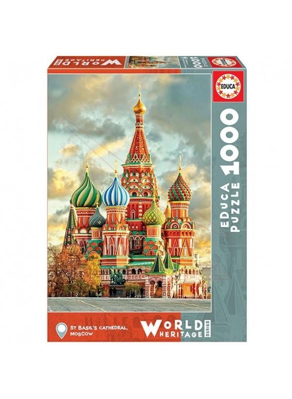 Puzzle 1000 piezas Catedral de Moscú.