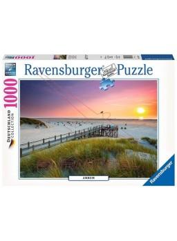 Puzzle 1000 piezas El atardecer sobre Amrum