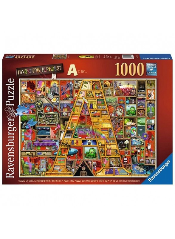 "Puzzle Awesome Alphabet ""A"" 1000 piezas"