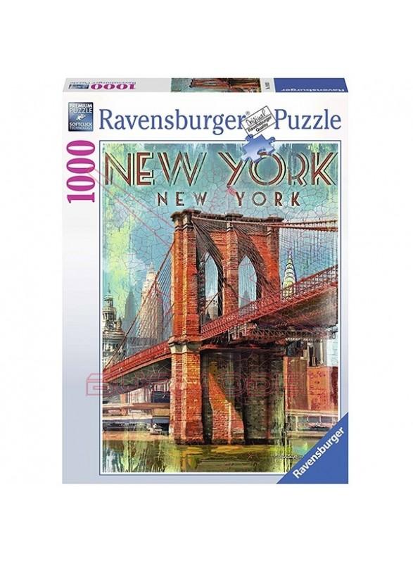 Puzzle 1000 piezas Retro New York