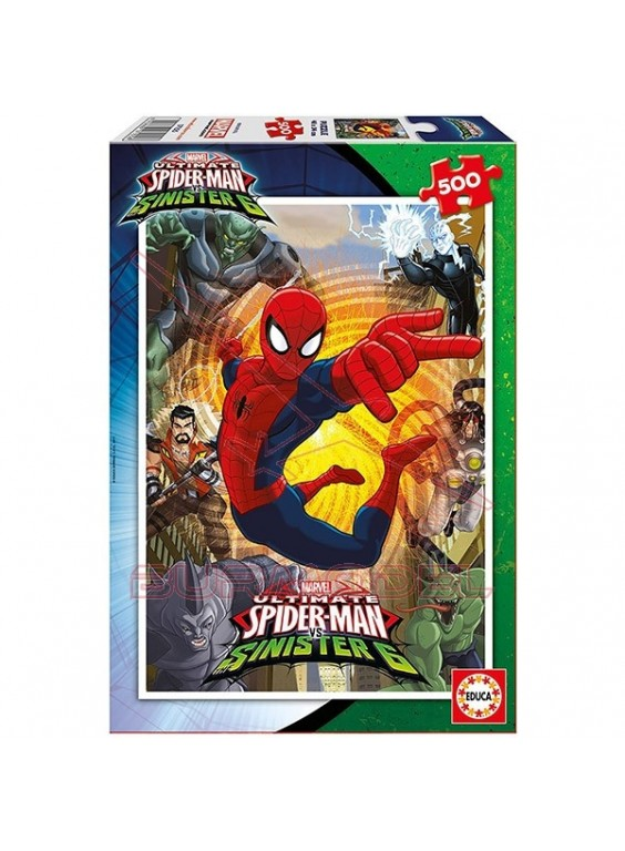 Puzzle 500 piezas Spider Man vs Sinister 6