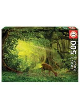 Puzzle de 500 piezas Paisaje con ciervo.
