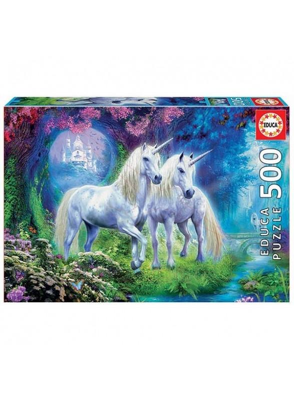 Unicornios en el bosque puzzle 500 piezas