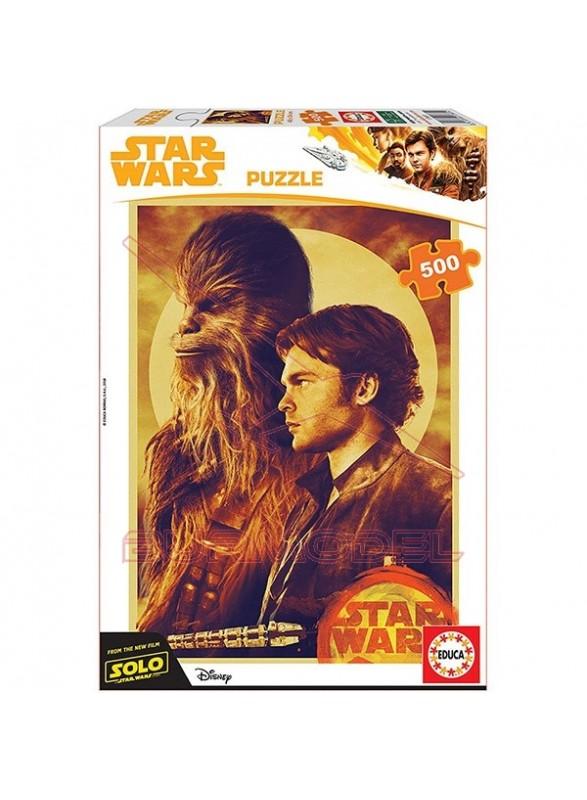 Puzzle 500 piezas Han Solo Chewbacca Star Wars.