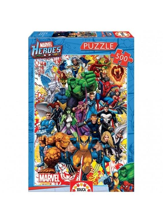 Puzzle 500 piezas Héroes Marvel.
