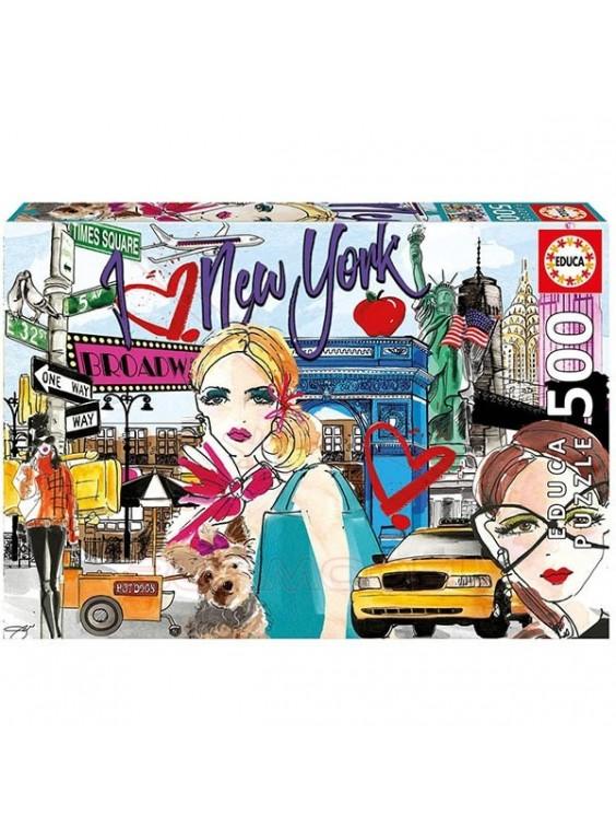 Puzzle 500 piezas Llévame a Nueva York.