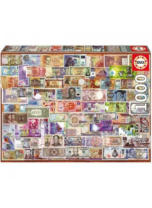 Puzzle billetes del mundo