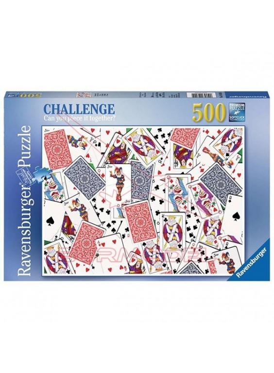 Puzzle 500 piezas 52 Cartas.
