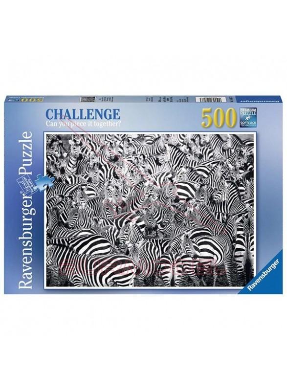 Puzzle 500 piezas Zebra Challenge