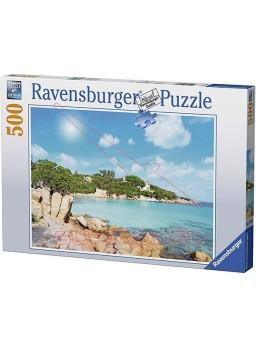 Puzzle Playa en Cerdeña 500 piezas