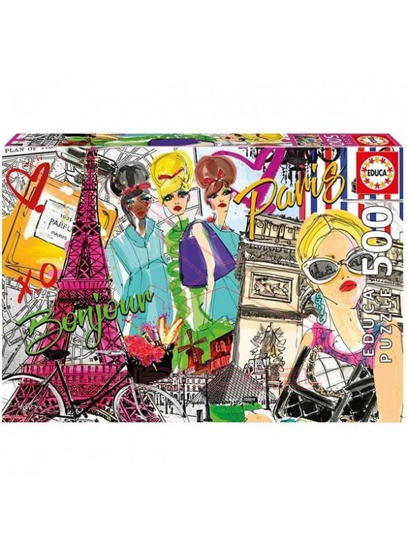 Puzzle 500 piezas Llévame a Paris.