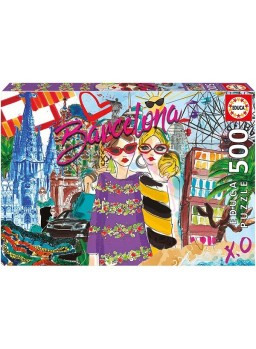 Puzzle 500 piezas Llévame a Barcelona.