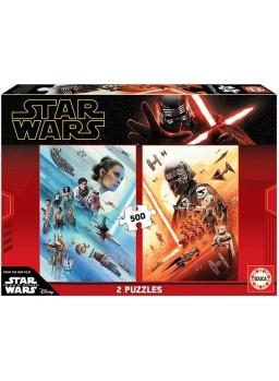Dos puzzles 500 piezas Star Wars.