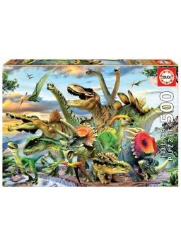 Puzzle 500 piezas Dinosaurios