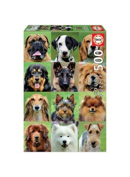 Puzzle 500 piezas Collage perros.