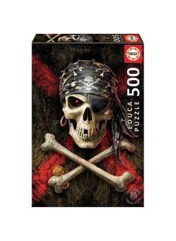 Puzzle 500 piezas Calavera pirata.