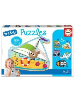 Puzzle infantil progresivo Vehículos.